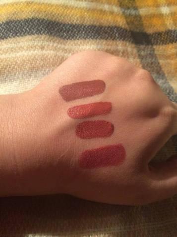 Top to bottom: Lolita, Lolita 2, Double Dare and Lolita Studded Kiss Lipstick